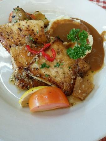 grill: The grill cod fish Stock Photo