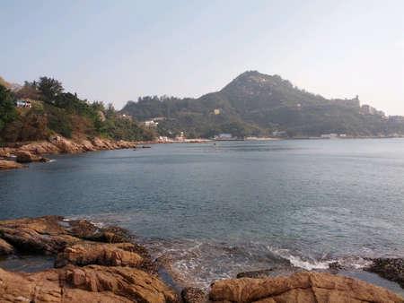 sky  sea: cielo blu vista mare a hong kong