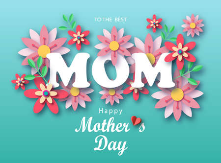 8 march. Happy Women s Day. Paper cut floral poster, banner or greeting card. Origami flower holiday background. Promotion, shopping template with frame and place for text. Trendy Design Template Vektoros illusztráció