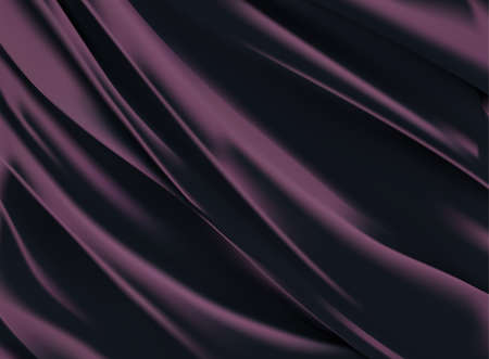 Abstract vector background luxury purple cloth or liquid wave Abstract or white fabric texture background. Cloth soft wave. Creases of satin, silk, and cotton. Vektorgrafik