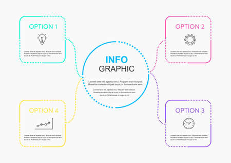 Infographic vector design template. Business concept with 4 options, steps or processes.