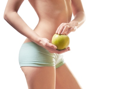 body part, waist, and an apple Stock Photo - 12802862