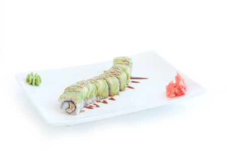 roll with wasabi and ginger photo