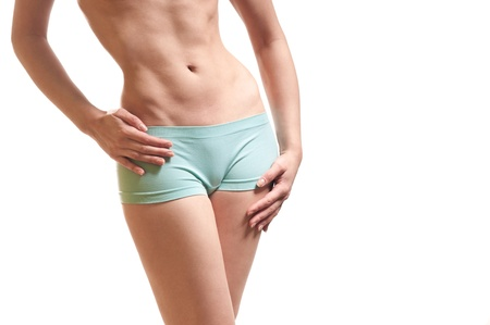 fitness body and a thin waist photo