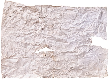 worn old brown paper with scratches. isolated on a white background Stock Photo - 13464939
