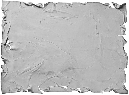 worn old gray paper with scratches. isolated on a white background Stock Photo - 13464935