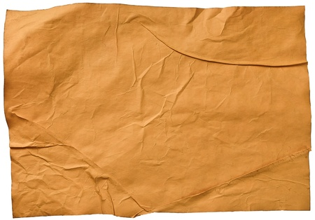 worn old brown paper with scratches. isolated on a white background Stock Photo - 13464943