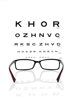 Lesen Brillen und Sehtafel Standard-Bild - 14394571