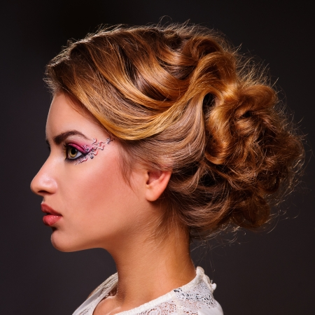 Fashion Beauty Portrait  Healthy Hair  Hairstyle