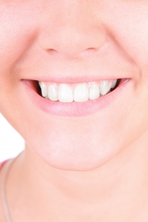Woman smile. Teeth whitening. Dental care. closeup, isolates on white background Stock Photo - 14980995