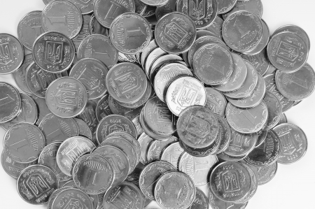 abstract background with Ukrainian coins Stock Photo - 15628119