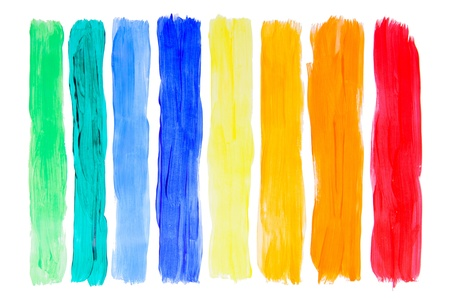 Rainbow different brush strokes collection