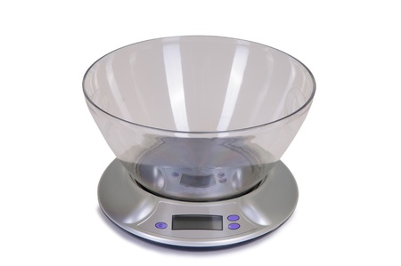 kitchen scale on white background Stock Photo - 15818155