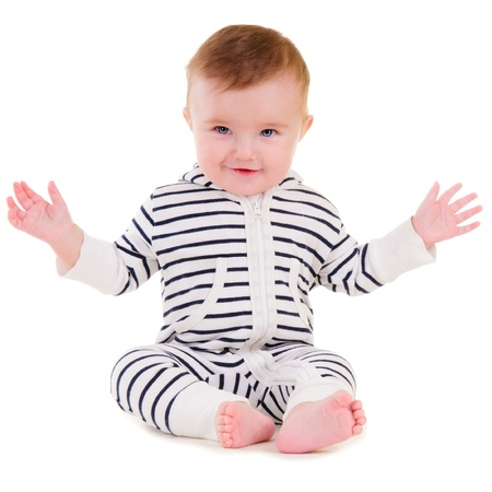 baby boy portrait isolated on white background Stock Photo - 16881061