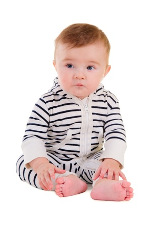 baby boy portrait isolated on white background Stock Photo - 17053514