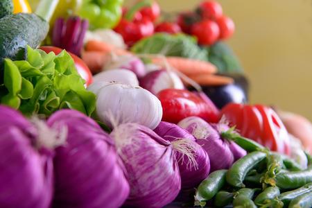 Viele verschiedene reife Gemüse gesunde Ernährung vegetarische