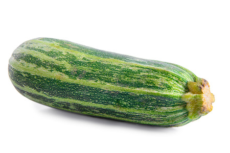 vegetable squash: one ripe vegetable squash isolated on a white background Stock Photo