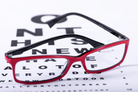 赤眼鏡と明るい背景に注目する目のグラフを読む