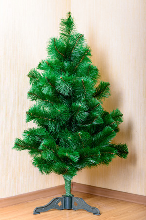toygift: object green Christmas tree in full growth