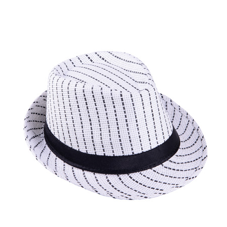Striped hat isolated on white background photo