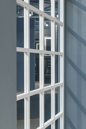 abstract window frame background with transparent glass and shadow - new concept design
