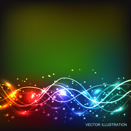 galactic: Abstract waves background. Vector illustration