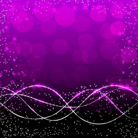 Abstract waves background. Illustration in violet colors. Stock Photo