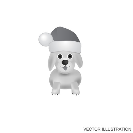 hounds: Illustration with dog. White-black background with nice dog. Funny cartoon character dog.Vector illustration.