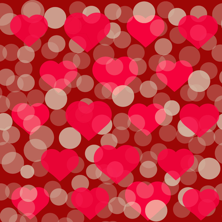 st valentin: Red hearts pattern for Valentine Day greeting card design. Romantic illustration for valentines day .