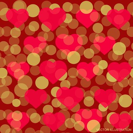 Pattern for Valentine Day greeting card design Illustration