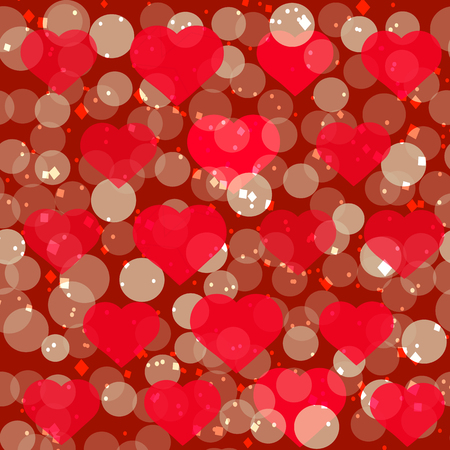 st valentin: Festive background with sparkling hearts. Romantic illustration for holidays. Stock Photo