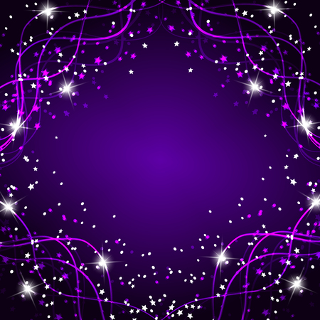 Bright magic background. Energy of movement and beauty. Abstract illustration in bright lilac colors.