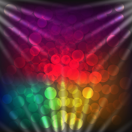 Colorful background with light effects. Illustration.