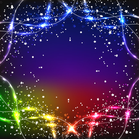Bright magic background. Energy of movement and beauty. Abstract illustration in bright colors.