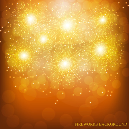 Brightly Colorful Fireworks. Holiday fireworks background. Illustration of Fireworks.