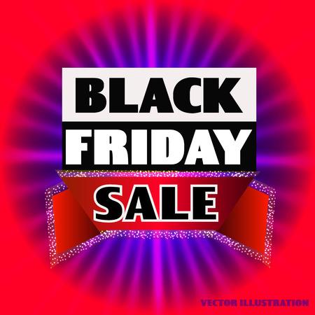 Bright background for black friday. Dark web banner for black Friday sale. Concept of advertising for seasonal offer. Vector illustration. Illustration