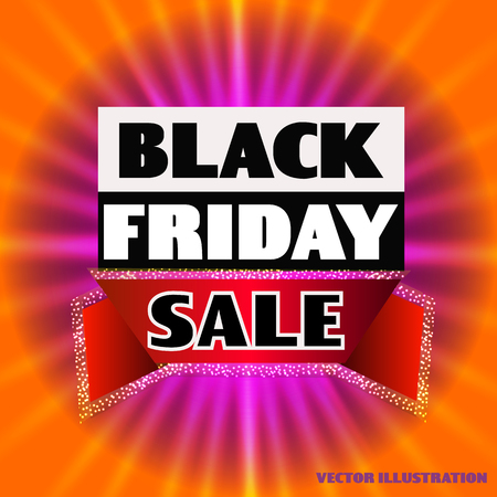 Bright background black friday. Illustration. Dark web banner for black Friday sale. Concept of advertising for seasonal offer .