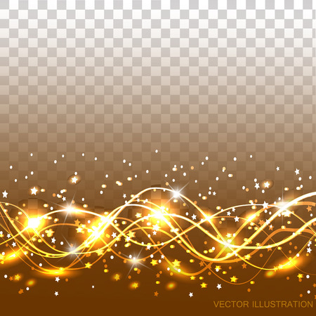 Abstract waves background. Illustration in bright gold color. Illustration