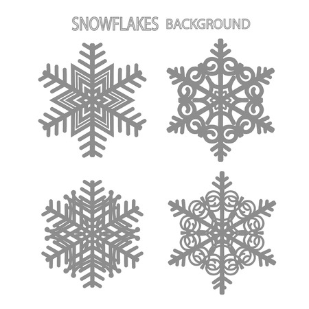 Set of  snowflakes pattern.