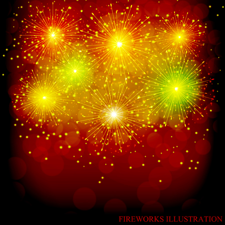 Brightly Colorful Fireworks pattern design.
