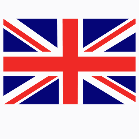 Bright background with flag of England.