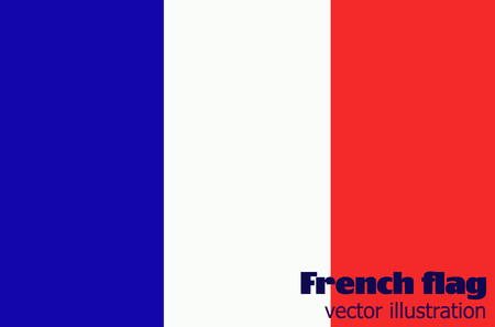 Bright background with flag of France.