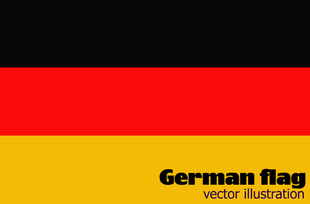 Bright background with flag of Germany vector.
