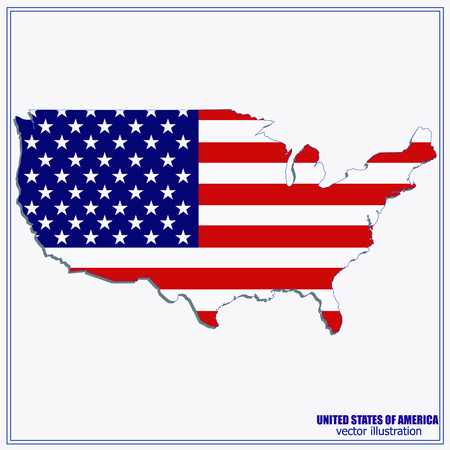 United States of America Vector Map Illustration.