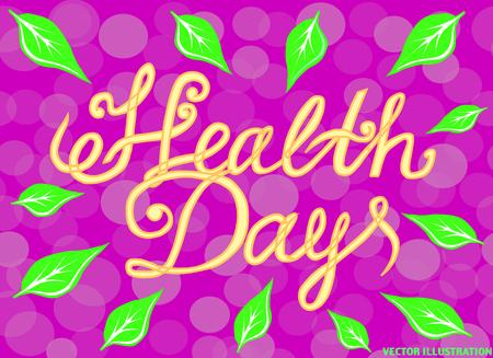 World Health Day Poster. Banner Background. Vector illustration Illustration