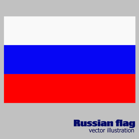 Bright background with flag of Russia. Vector.