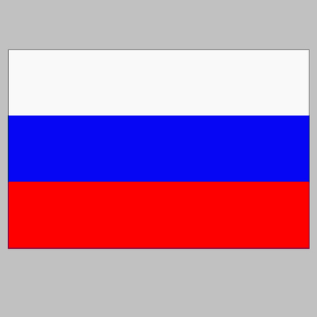Bright background with flag of Russia.