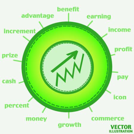 Illustration with Money Growth Icon. Infographic illustration