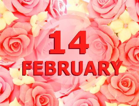 February 14 festive background. Archivio Fotografico - 120711675