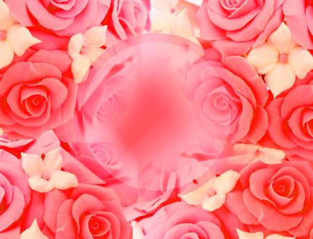 Colorful festive background with roses. Archivio Fotografico - 120711703